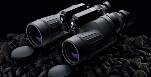 binoculars in dark night
